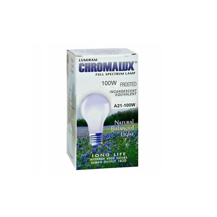 Chromalux Lumiram Full Spectrum A21 100Watt Frosted Lamp Natural Balanced Light, 1 Ea