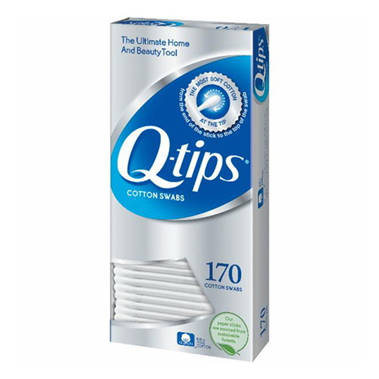Q-Tips Cotton Swabs For Clean Ears, 170 Ea