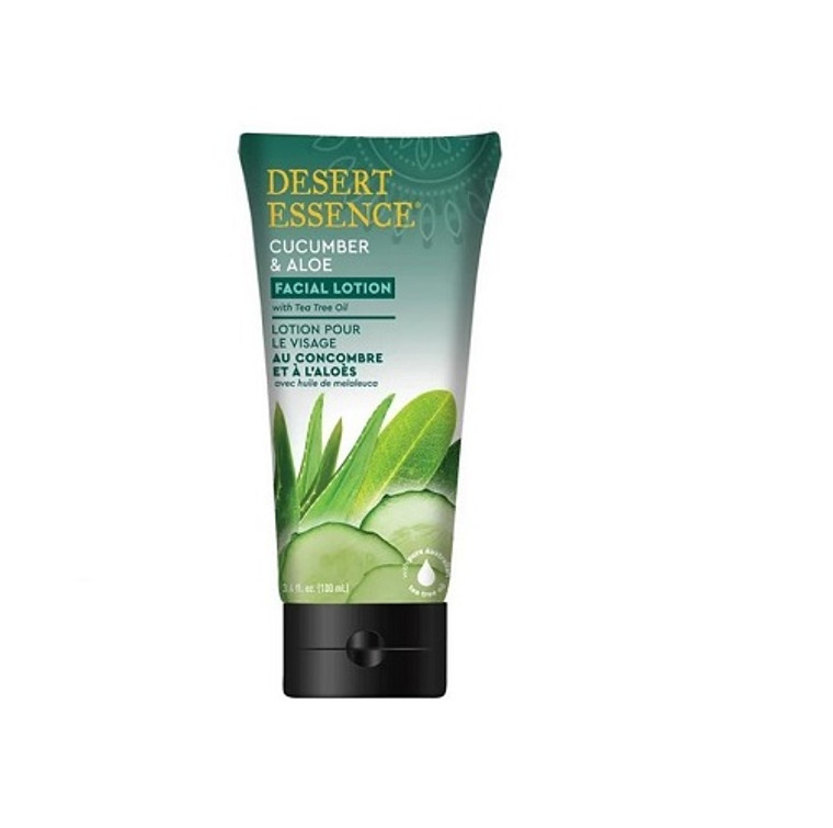 Desert Essence Facial Lotion with Cucumber and Aloe, 3.4 Oz