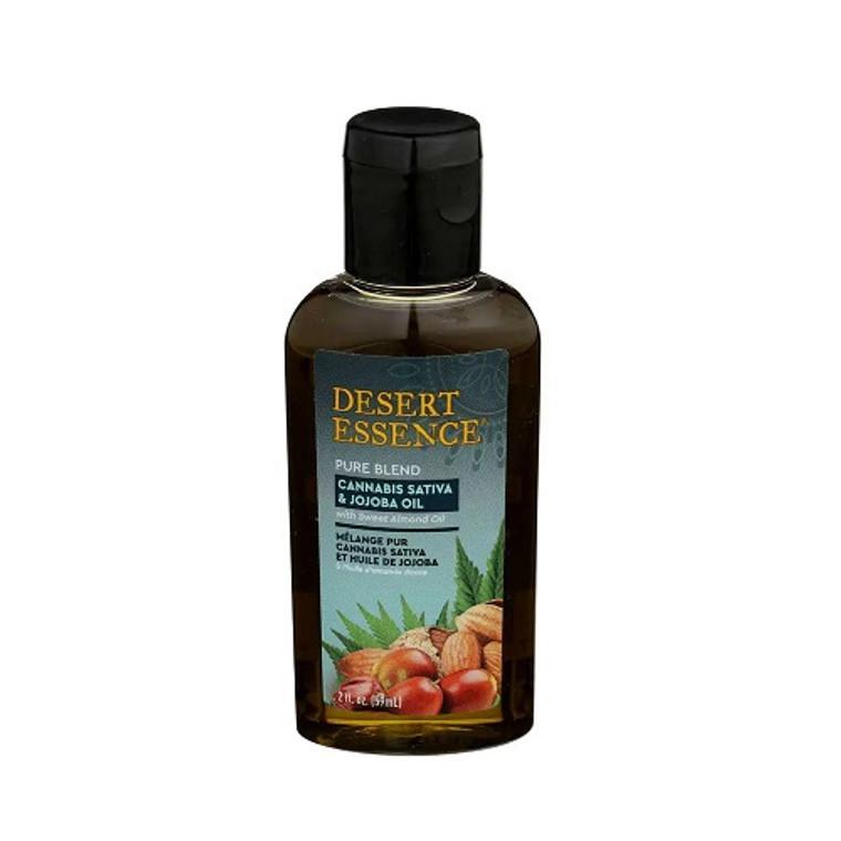 Desert Essence Cannabis Sativa and Jojoba Pure Oil Blend, 2 Oz