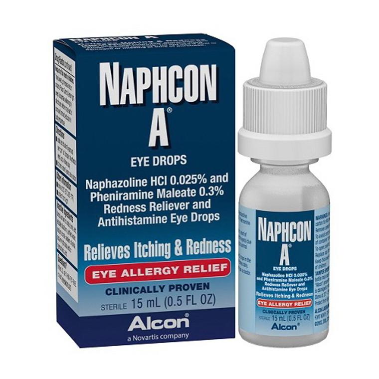 Naphcon-A Antihistamine Eye Drops for Eye Allergy Relief, 15 mL
