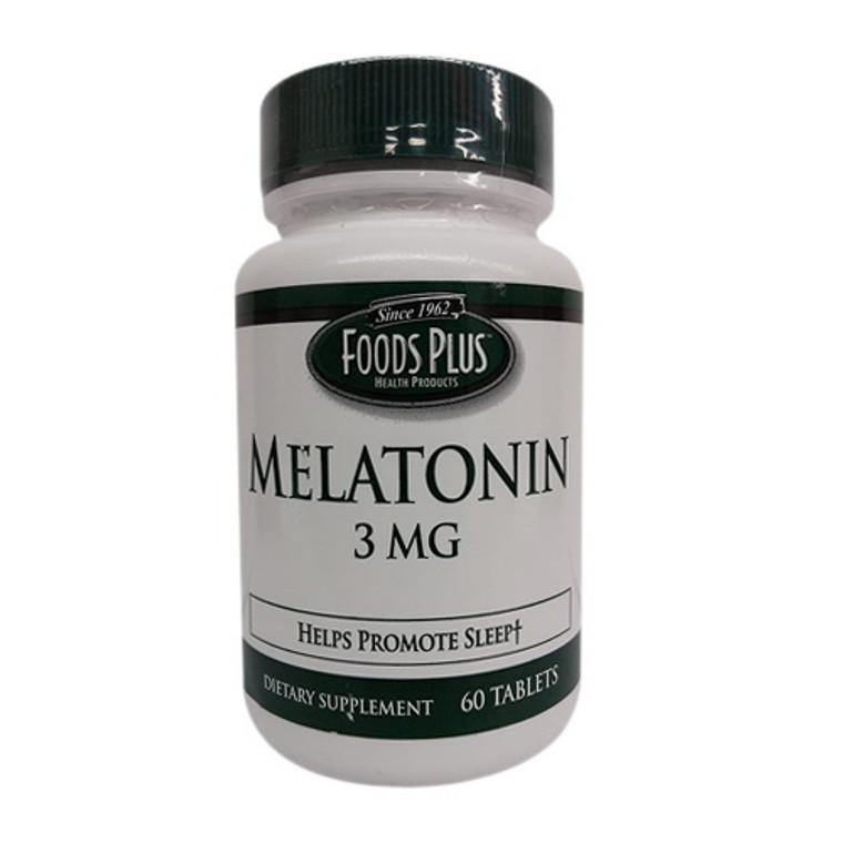 Foods Plus Melatonin 3mg Sleep Aid Tablets, 60 Ea