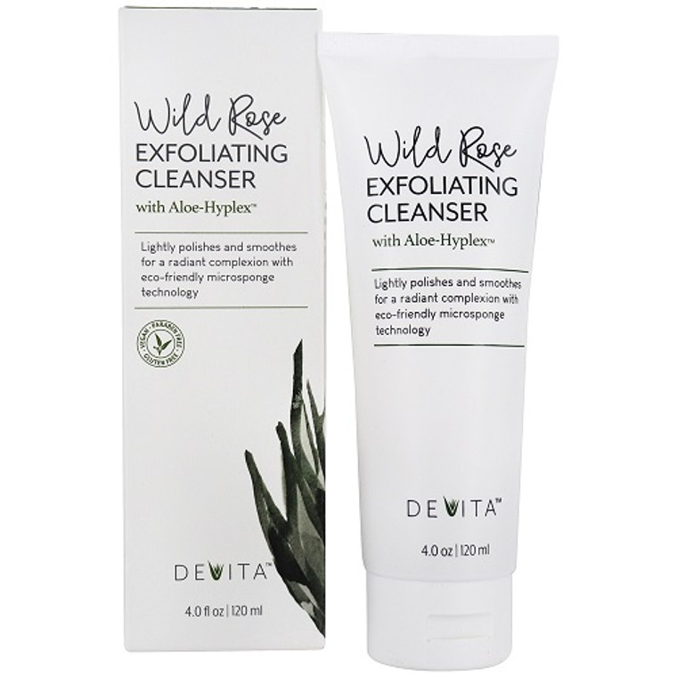 Devita Wild Rose Exfoliating Facial Cleanser, 4 Oz