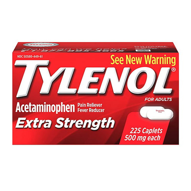 Tylenol Extra Strength Caplets With 500 Mg Acetaminophen, 225 Ea