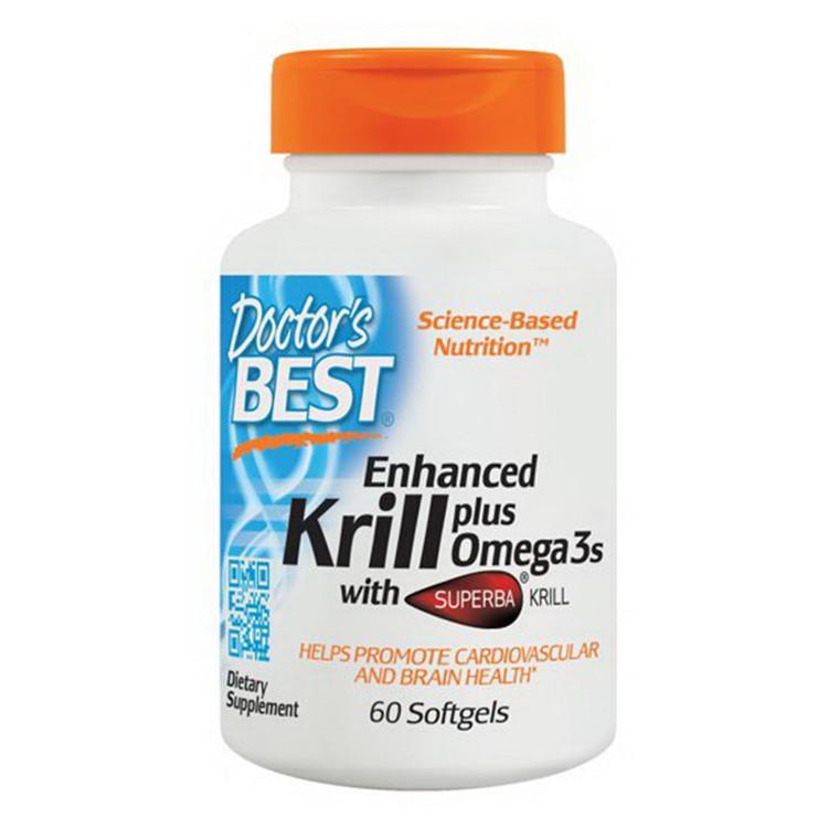 Doctors Best Enhanced Krill Plus Omega-3 Softgels, 60 Ea