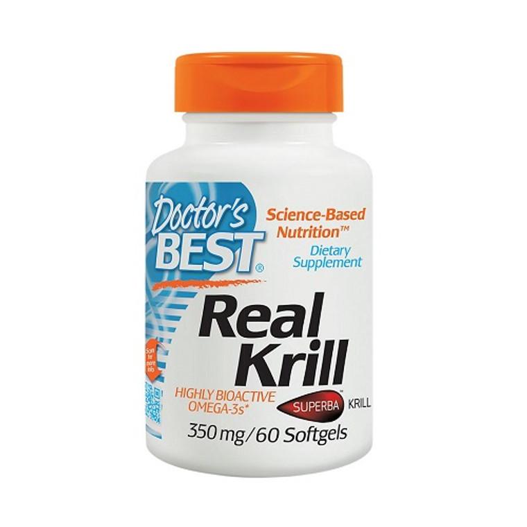 Doctors Best Real Krill 350 mg Softgels, 60 Ea