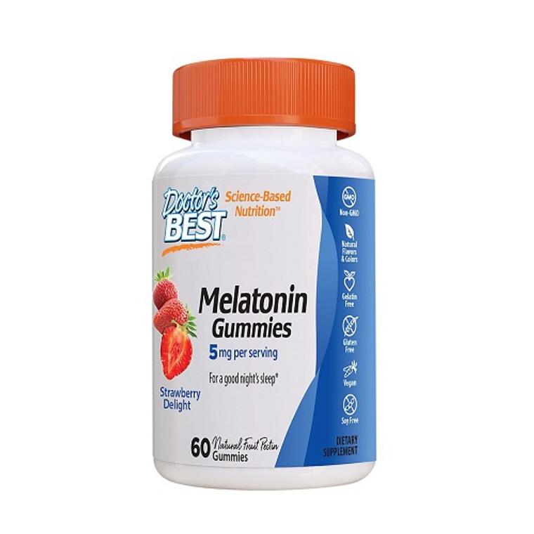 Doctors Best Melatonin Gummies Strawberry Delight, 60 Ea