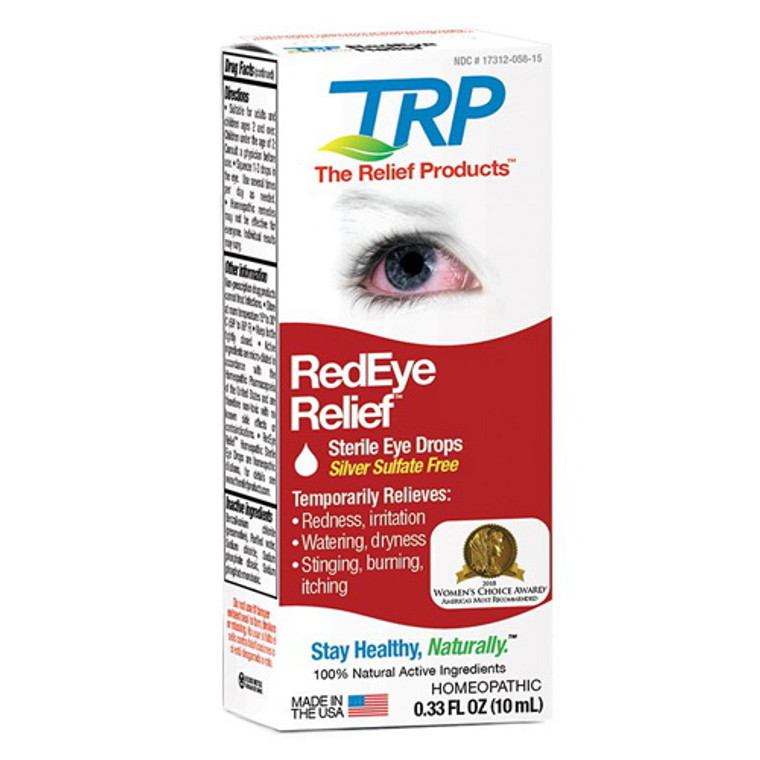 Red Eye Relief Sterile Eye Drops By TRP Company, 0.33 Oz