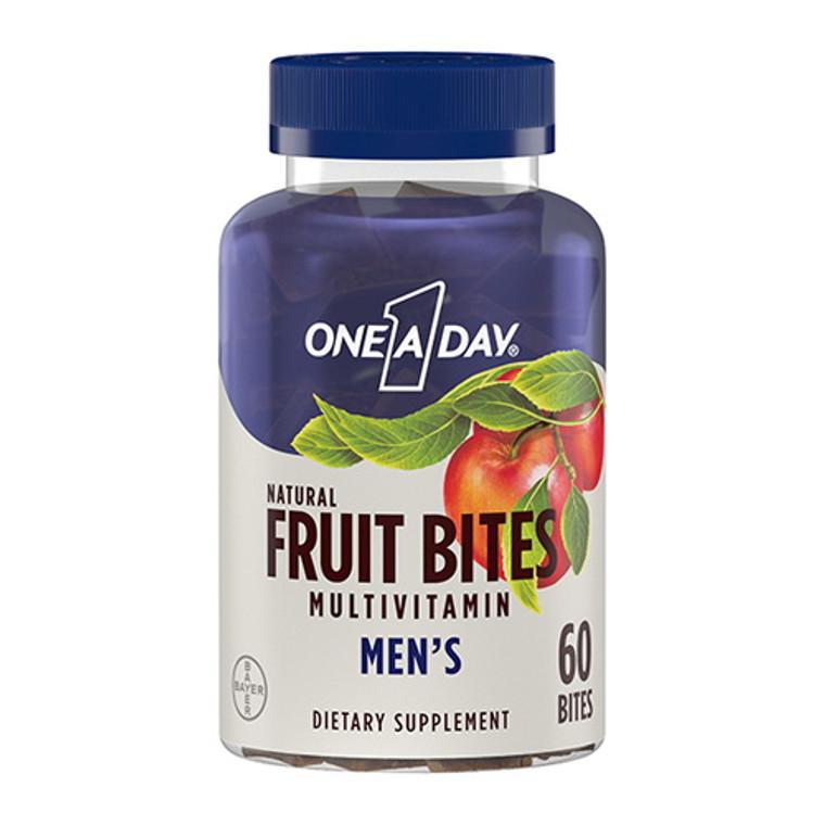 One A Day Mens Multivitamin Natural Fruit Bites, 60 Ea