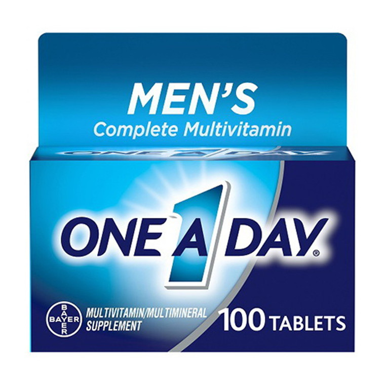 One A Day Mens Multivitamin and Multivitamin Tablets for Men, 100 Ea