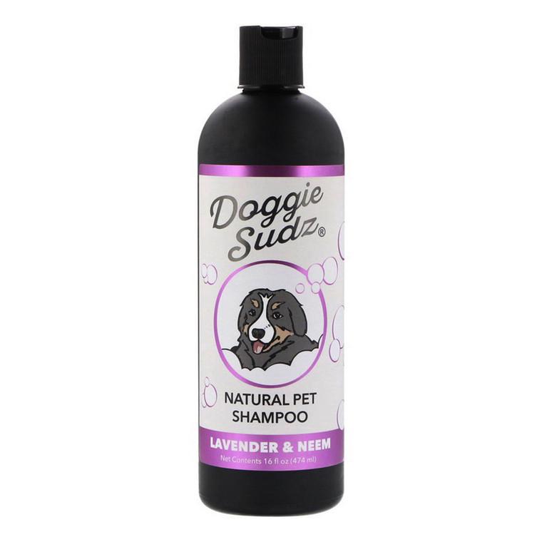 Doggie Sudz Natural Pet Shampoo, Lavender and Neem, 16 Oz