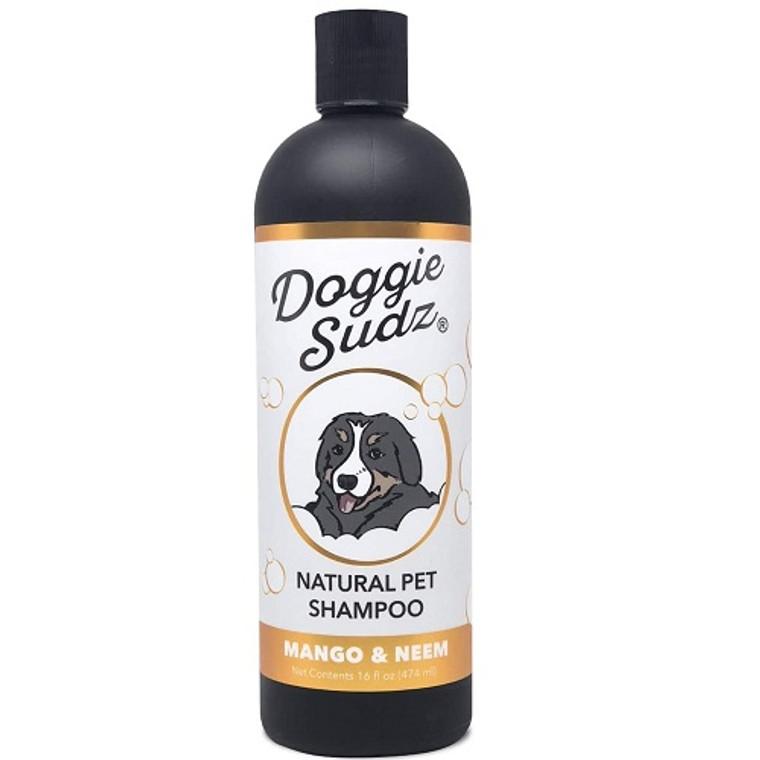 Doggie Sudz Natural Pet Shampoo with Mango and Neem, 16 Oz