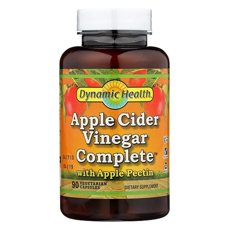 Dynamic Health Apple Cider Vinegar Complete Veggie Capsules, 90 Ea