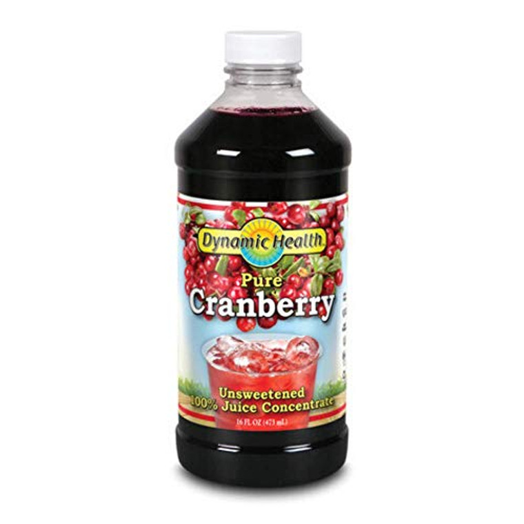 Dynamic Health Cranberry Concentrate Juice, 16 Oz