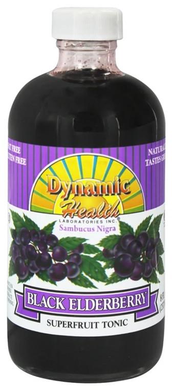 Dynamic Health Concentrate Juice  Sambucus Black Elderberry, 8 Oz