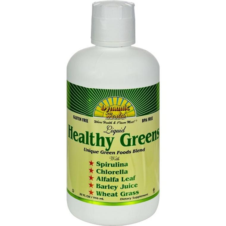 Dynamic Health Healthy Greens Liquid, 32 Oz