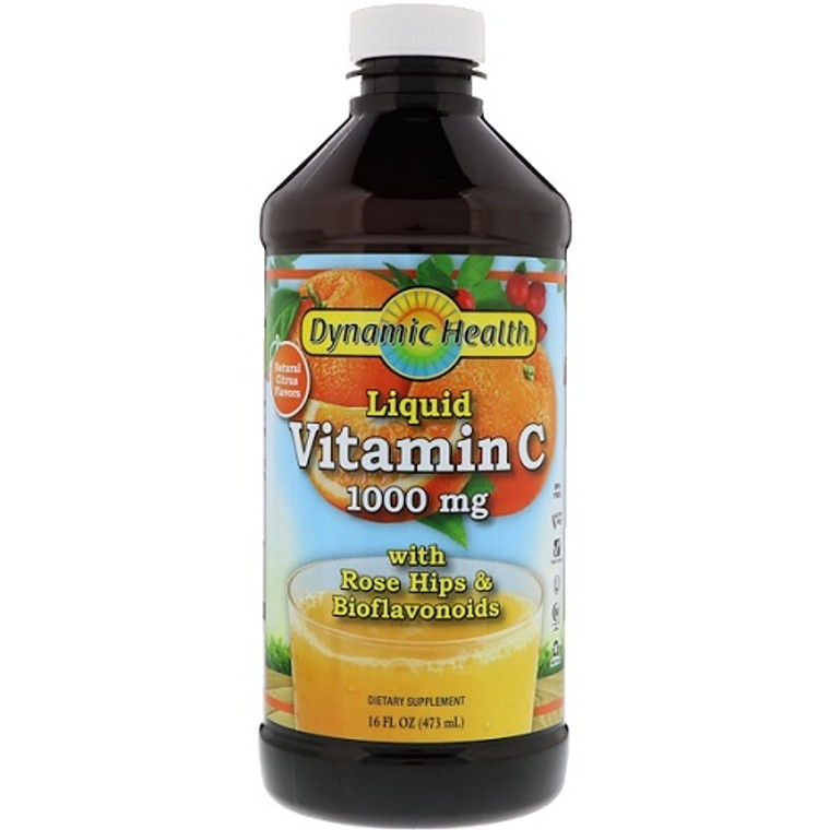 Dynamic Health Liquid Vitamin C 1000 Mg, 16 Oz