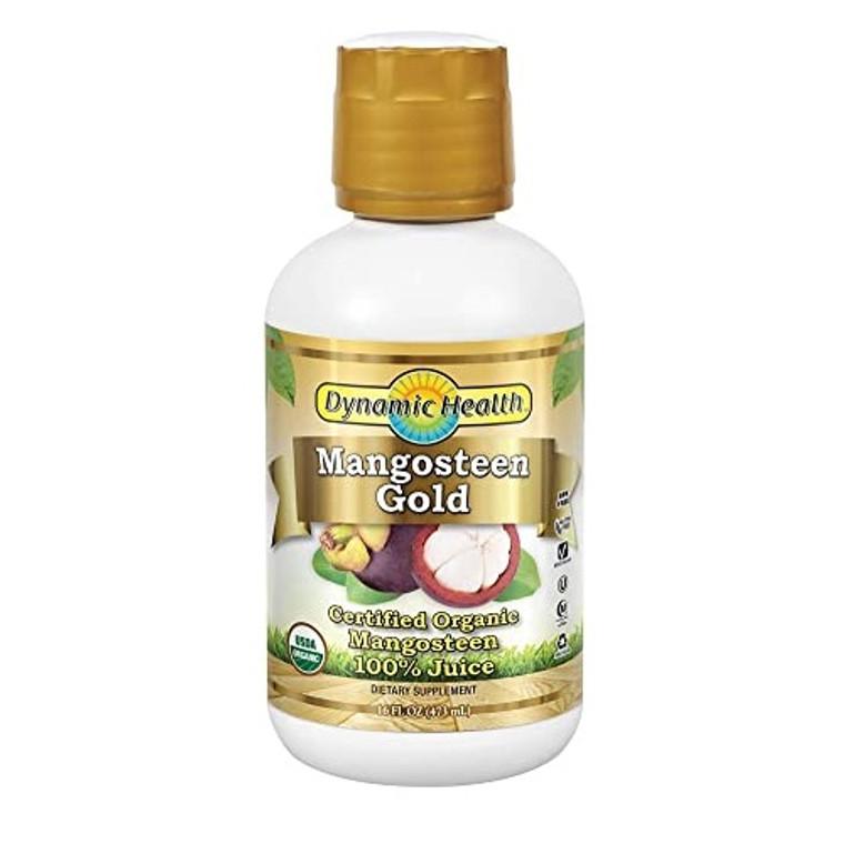 Dynamic Health Mangosteen Gold Pure Juice, 16 Oz