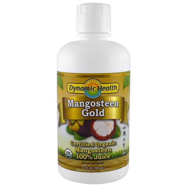 Dynamic Health Pure Mangosteen Gold Juice, 32 Oz