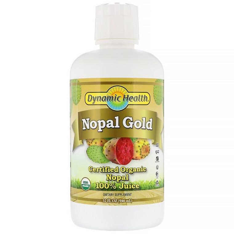 Dynamic Health Organic Certified Nopal Gold Juice, 32 Oz