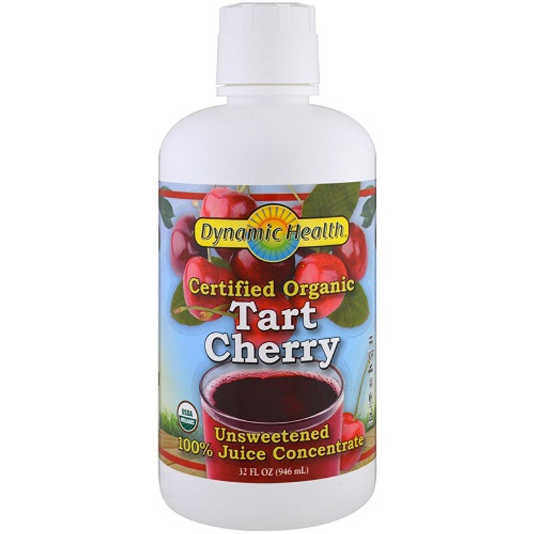 Dynamic Health Organic Tart Cherry Juice Concentrate, 32 Oz
