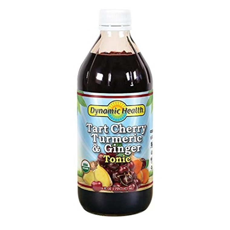Dynamic Health Tart Cherry Turmeric and Ginger Tonic, 16 Oz