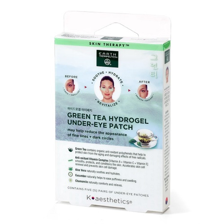 Earth Therapeutics Hydrogel Under-Eye Recovery Patch, 5 Ea