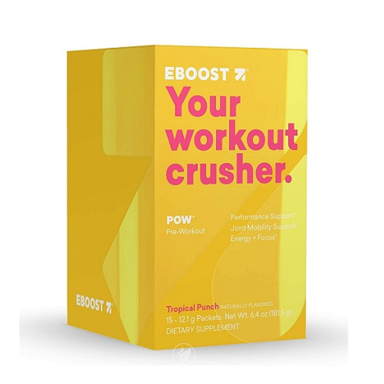 Eboost Your Workout Crusher Pow Pre-workout Powder Packets, 15 Ea