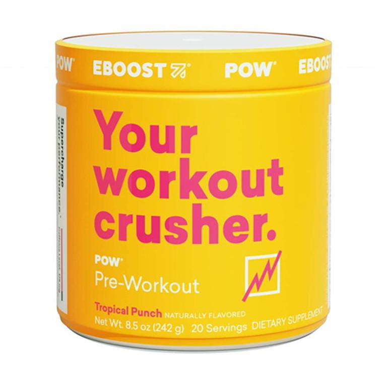 Eboost Pow Pre-Workout Powder Tropical Punch, 20 Ea