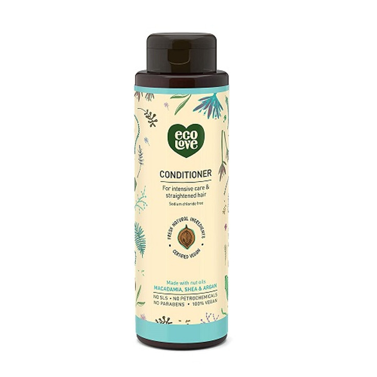 Eco Love Nut Oils Conditioner Intensive Care Straightened Hair, 17.6 Oz