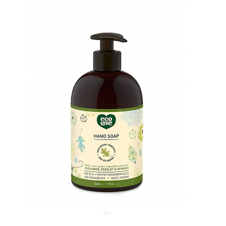 Eco Love Liquid Hand Soap with Green Vegetable Extracts, 17.6 Oz