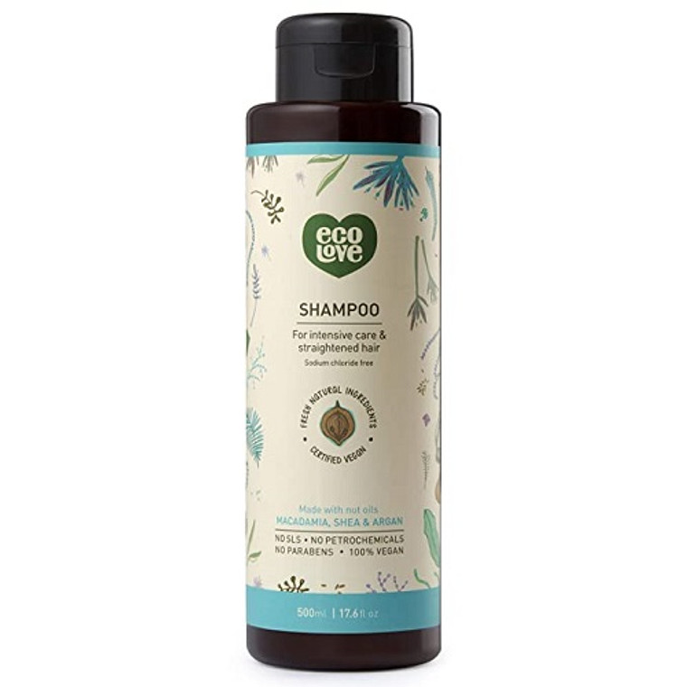 Eco Love Nut Oils Shampoo Intensive Care and Straightened Hair, 17.6 Oz