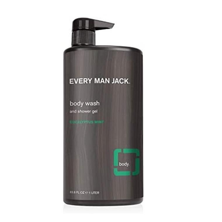 Every Man Jack Eucalyptus Mint Body Wash, 33.8 Oz