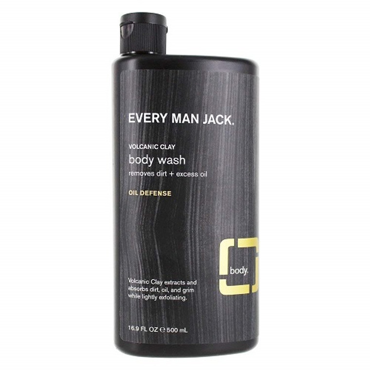 Every Man Jack Volcanic Clay Oil Defense Body Wash, 16.9 Oz