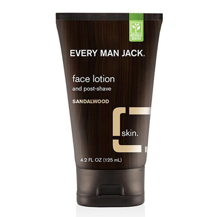 Every Man Jack Face Lotion Sandalwood, 4.2 Oz