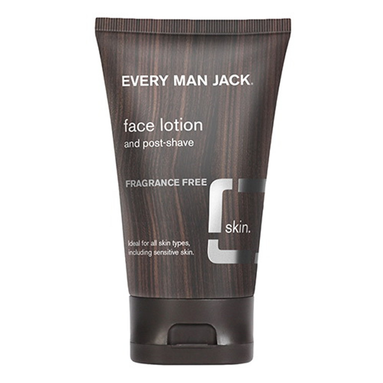 Every Man Jack Post Shave Face Lotion Fragrance Free, 4.2 Oz