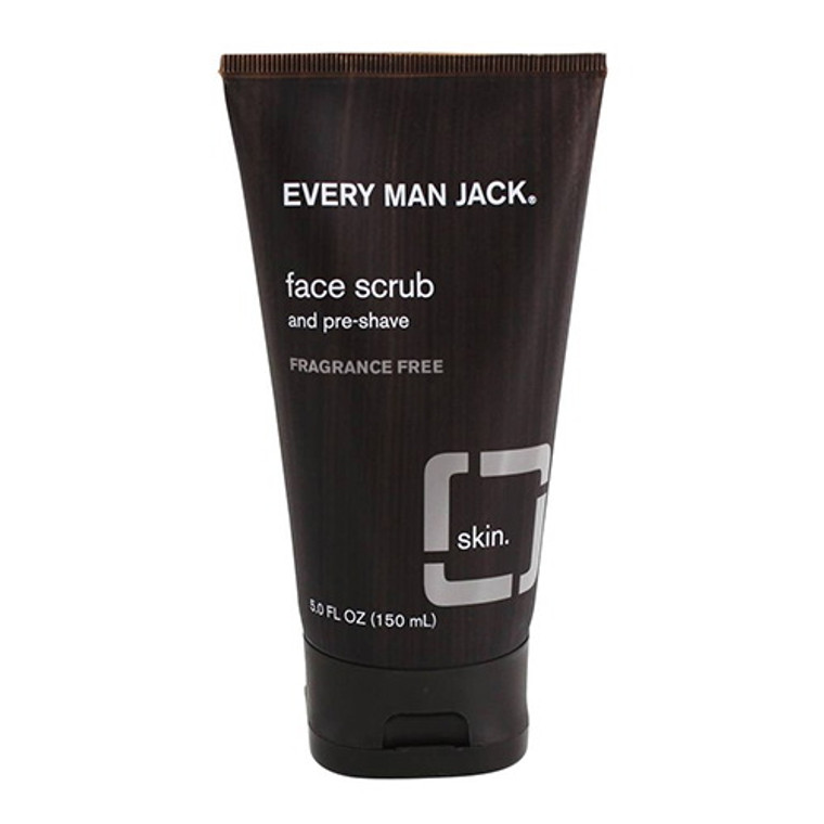 Every Man Jack Face Scrub and Pre Shave Fragrance Free, 5 Oz