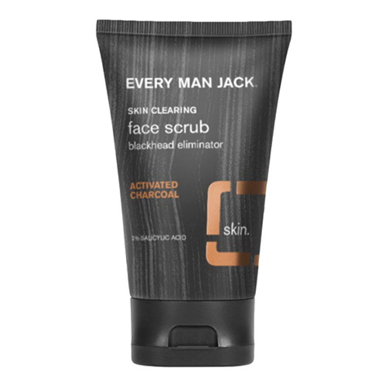 Every Man Jack Skin Clearing Charcoal Face Scrub, 4.2 Oz