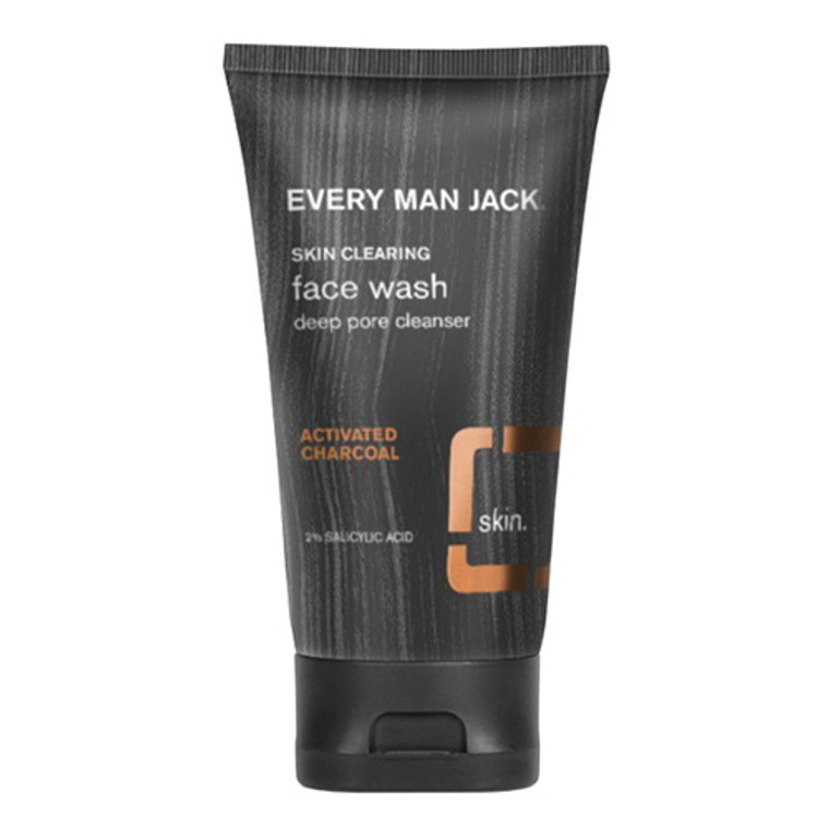 Every Man Jack Charcoal Skin Cleaning Face Wash, 5 Oz