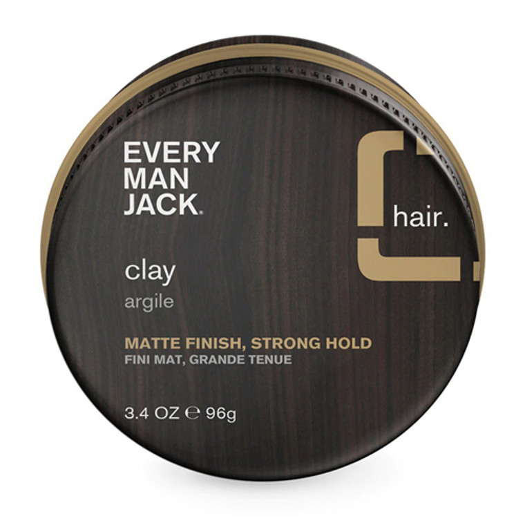 Every Man Jack Argile Matte Finish Strong Hold Hair Clay, 3.4 Oz