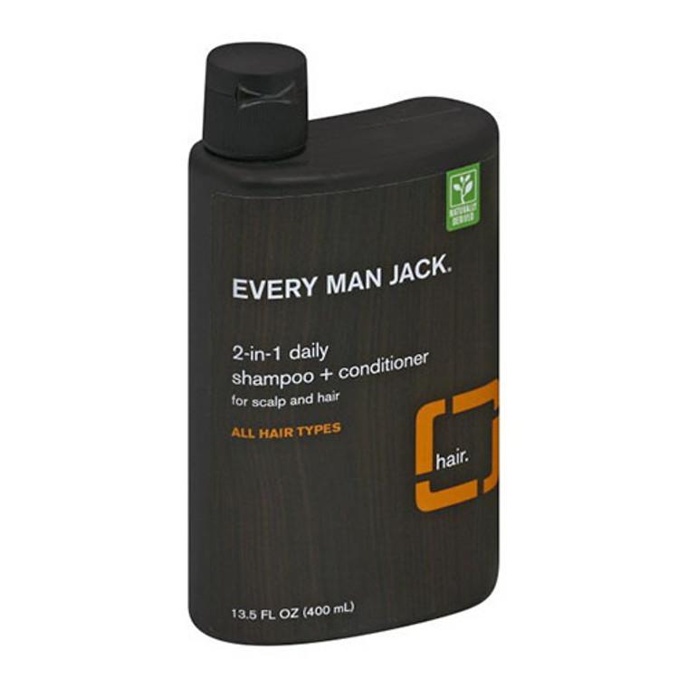 Every Man Jack Shampoo and Conditioner Citrus, 13.5 Oz