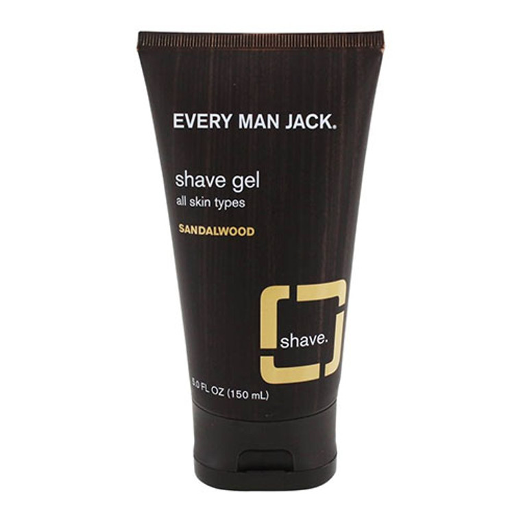 Every Man Jack Sandalwood Shave Gel, 5 Oz
