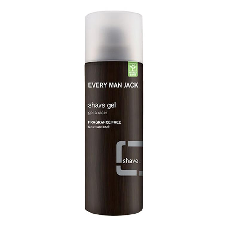Every Man Jack Sensitive Skin Fragrance Free Shave Gel, 7 Oz