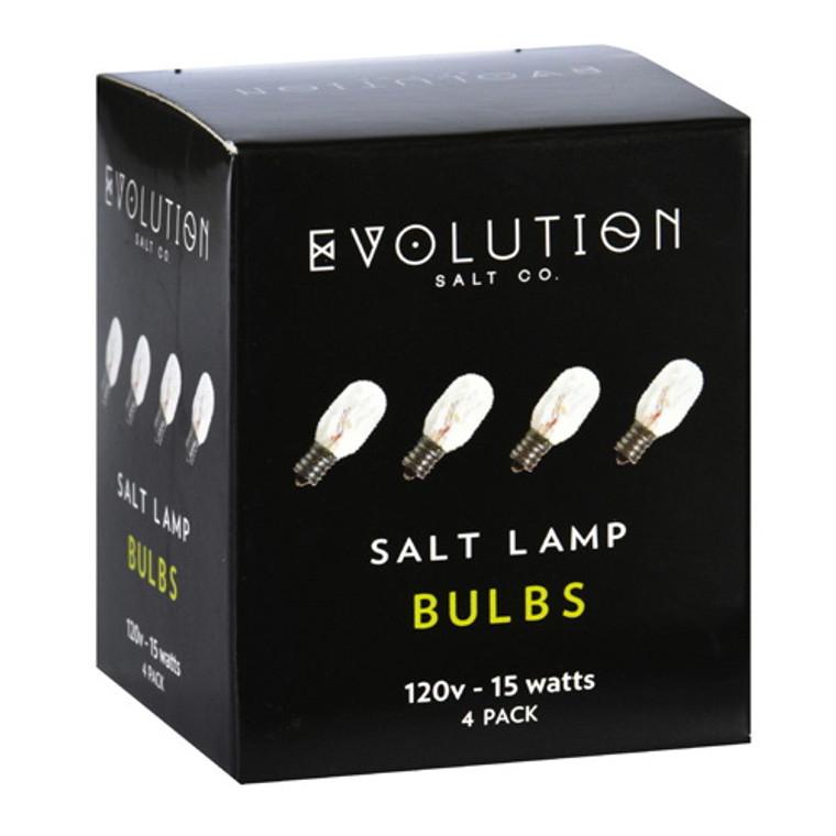 Evolution Salt Bulb Clear 15 Watt Pack, 4 Ea