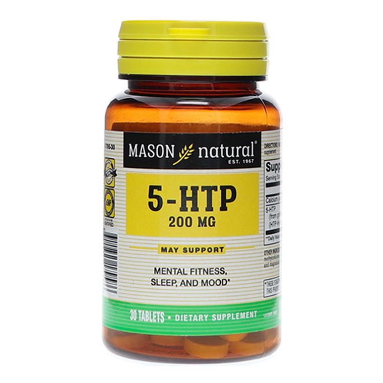 Mason Natural Dietary Supplement 5-HTP 200mg Tablets, 30 Ea