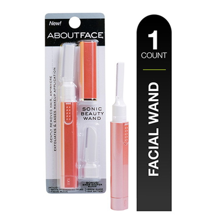 About Face Sonic Beauty Wand Battery Operated Facial Hair Removal, 1 Ea