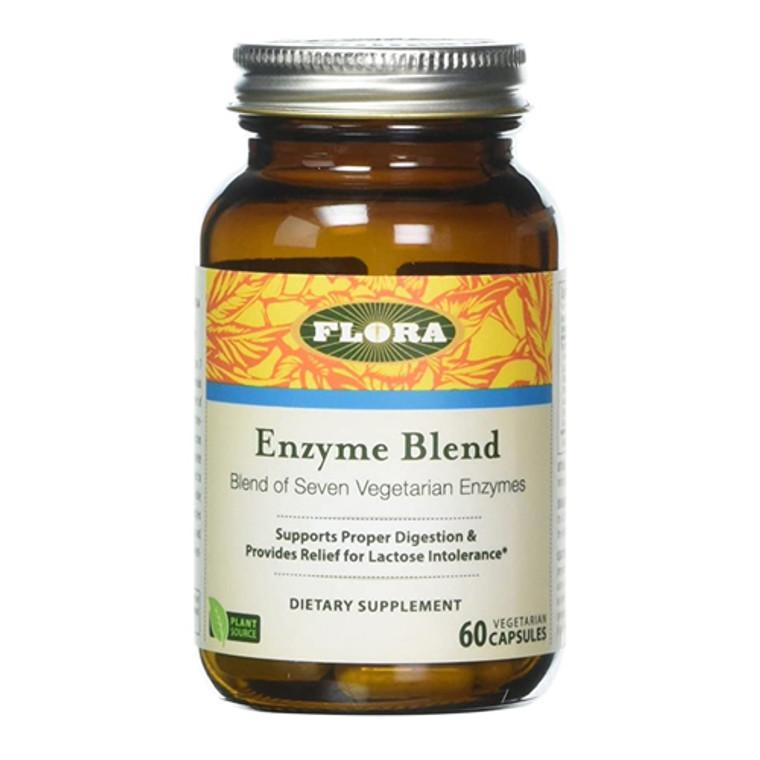 Flora Digestive Enzyme Blend Vegetarian Capsules, 60 Ea