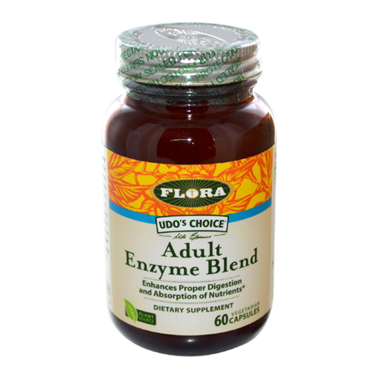 Flora Adult Enzyme Blend Vegetarian Capsules, 60 Ea