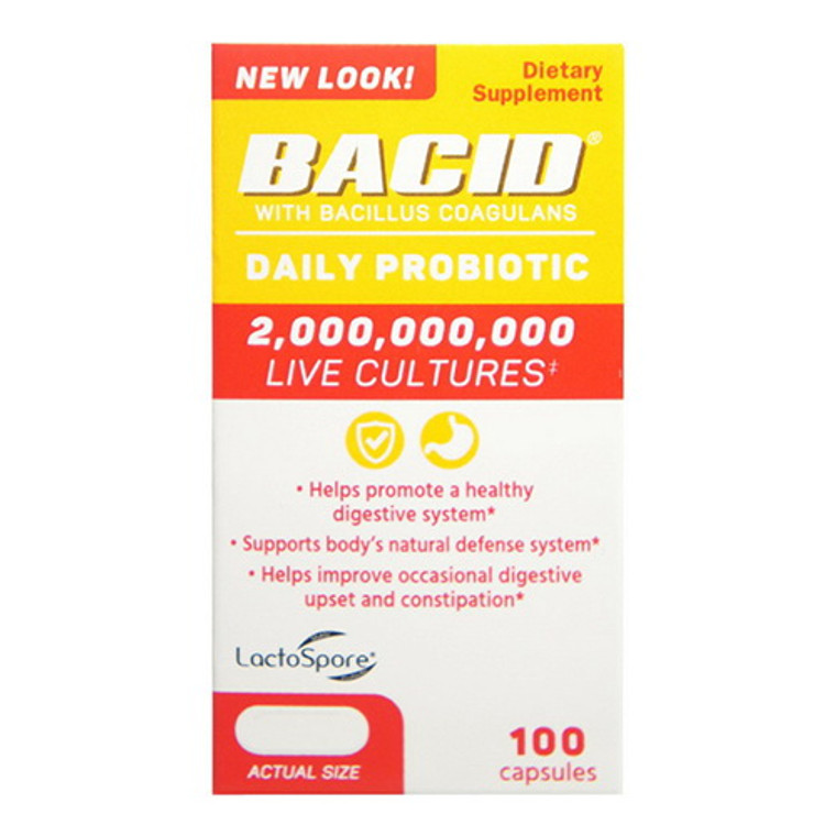 Bacid Daily Probiotic Dietary Supplement for Digestive Health, 50 Ea