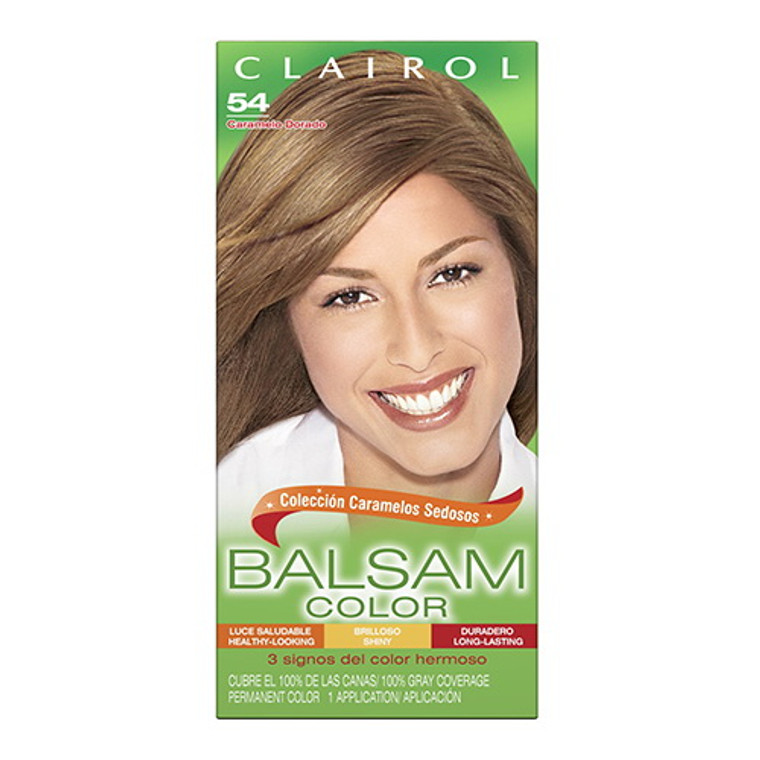 Clairol Balsam Hair Color, 54 Light Golden Brown, 1 Kit